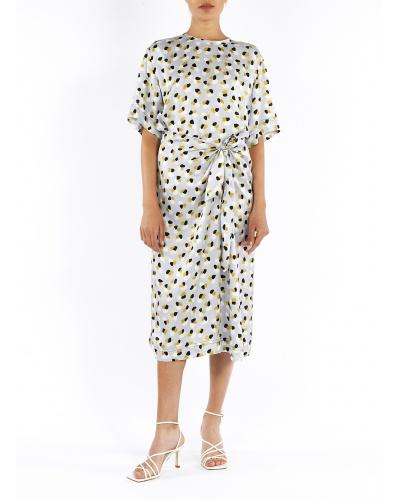 Cotton printed midi dress