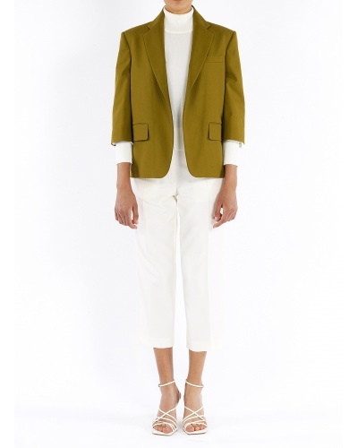 Cropped jacket with 3/4...